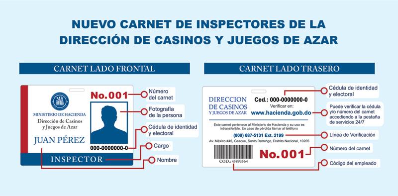 Inspectores de casinos, bancas deportivas y de loterías tendrán un nuevo carnet de identificación