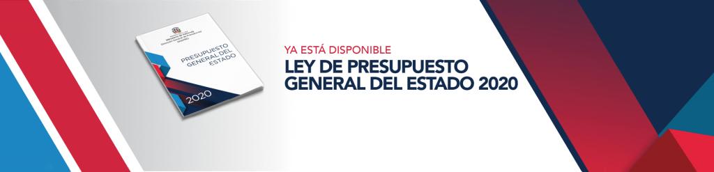 banner para descargar ley de presupuesto general del estado 2020