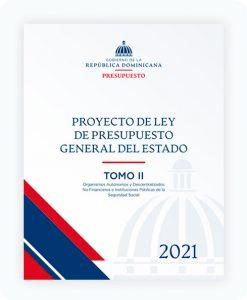 tomo II Proyecto de Ley de Presupuesto General del Estado