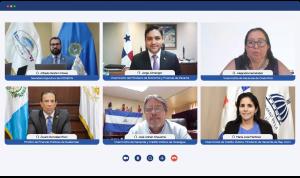 Viceministra de Crédito Público, María José Martínez, durante la reunión virtual